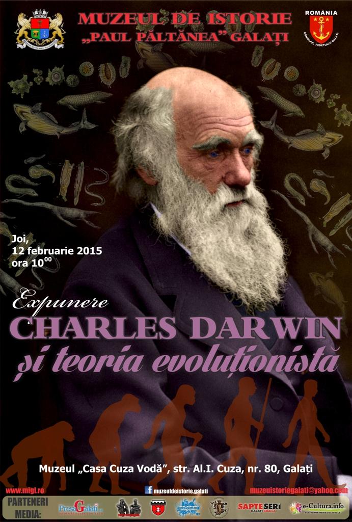 Afis Charles Darwin Muzeul de Istorie