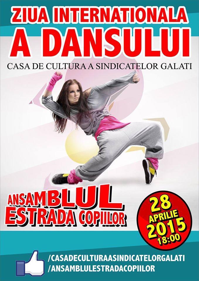 ziua internationala a dansului ansamblul estrada copiilor